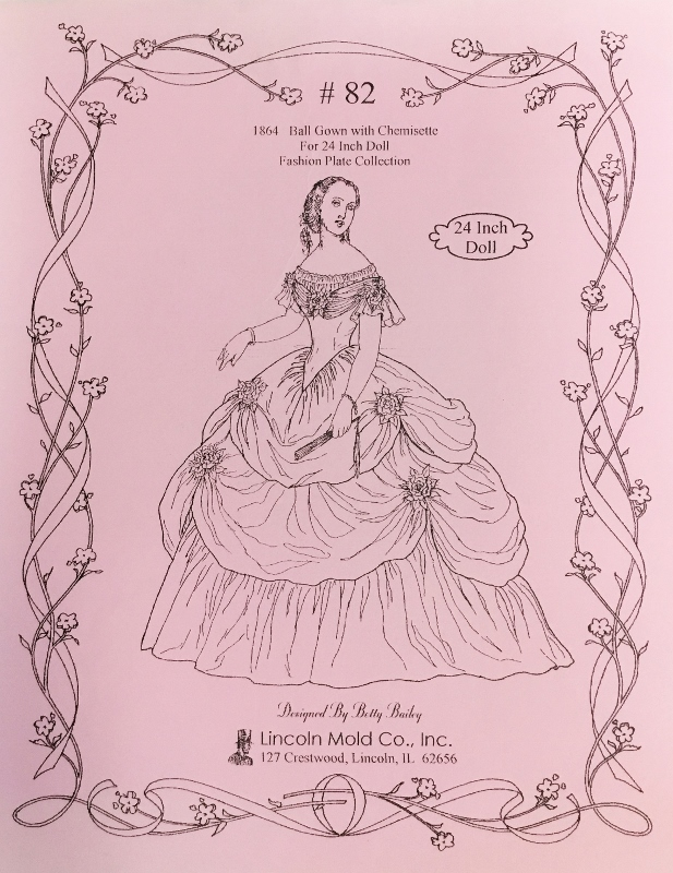 # 82 for 1864 Ball Gown with Chemisette