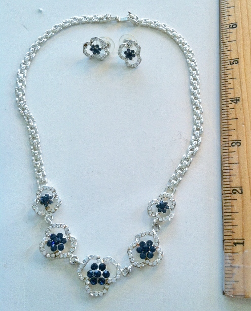 #01 Blue and Clear Crystal Set