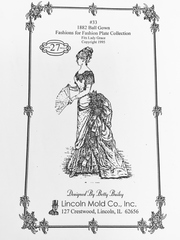 #33 1882 Ball Gown pattern for 27 inch lady doll