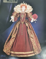 Queen Elizabeth Ist pattern for 36 inch dolls