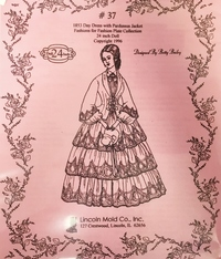 #37 1853 Day Dress with Pardussus Jacket Pattern