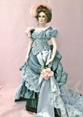 DESIGNER #8, 1882 BALLGOWN FOR 24 INCH LADY DOLL