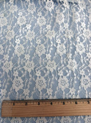 Ivory Floral Lace Fabric