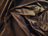 Chocolate Iridescent Heavy Taffeta Fabric