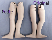 12 Inch All Porcelain Doll Legs Original Blank Champagne