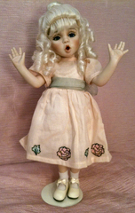 12 Inch All Porcelain Doll Arms Bent Painted French Antique