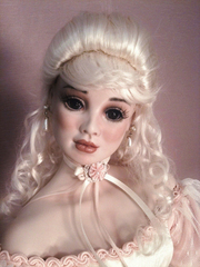 29 Inch Lady Head Alexandria Painted Bisque French Antique