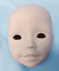 12 Inch All Porcelain Doll Head Joanna Blank Mocha
