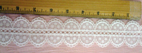 Lace Trim Embroidered Organza Insertion