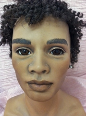 39 Inch Male Doll Head Issac Blank Cinnamon