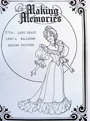 "Lady Grace 1890's Ball Gown 18"" Pattern"