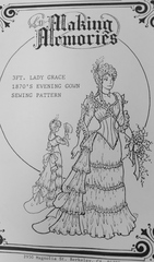Lady Grace 1870's 36 Inch Evening Gown