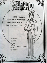Lord Earnest Cutaway & Striped Trousers Suit Pattern