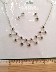 #05 Clear & Red Crystals Set