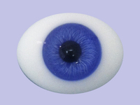 Dark Violet 18mm Pinched Back Glass Eyes