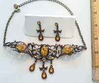 #03 Faux Amber Old Gold Mount Set