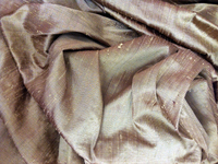 Iridescent Bronze Dupioni Silk Fabric