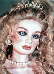 36 Inch Lady Head Alene Blank Bisque French Glow