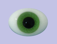 Light Green 12MM Pinched Back Glass Eyes