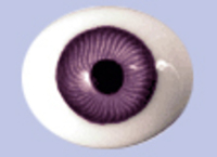 Violet Flat Backed Glass Antique Iris Eyes